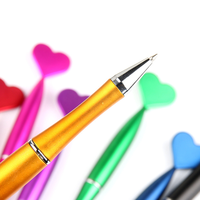 1Piece Cute Heart Ballpoint Pens 1.0mm Creative Pens Lovely Mermaid Tail Ball Pens For Writing School Office  Novelty Stationery 4