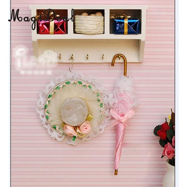 Pretend Play Magideal 1/12 Scale Dollhouse Miniature Kitchen Wood Wall Rack For Dolls House Furniture Decoration Children Toy Can Be Repeatedly Remolded. Furniture Toys