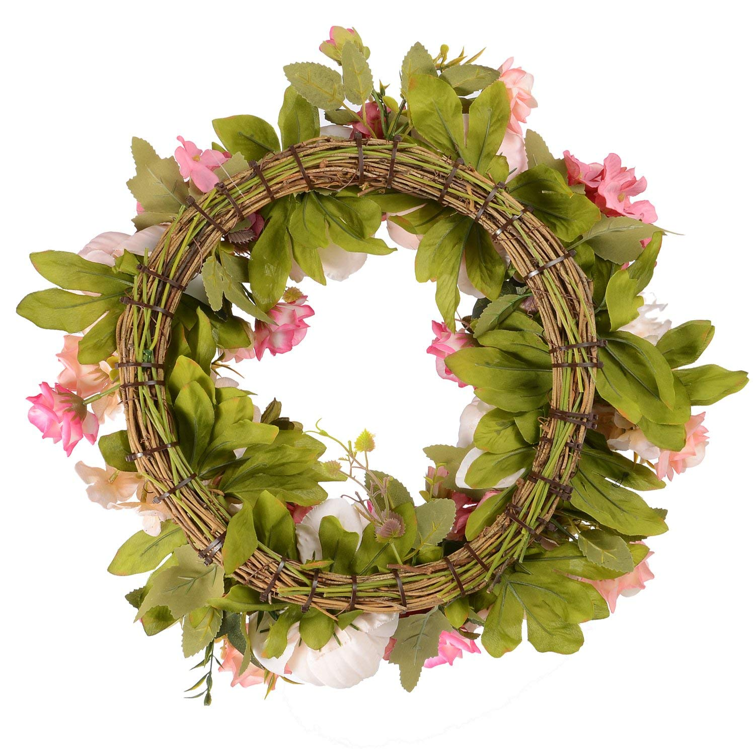 Image 4 - 16inch Artificial Flowers Wreaths Door Perfect Quality Artificial Garland For Wedding decoration Home Party DecorWreaths & Garlands   -