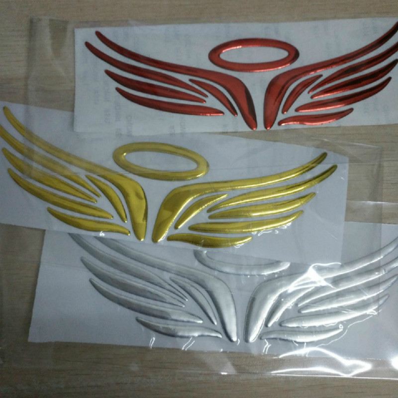 4 Colors Hot 3D Angel Fairy Wings Car Styling Sticker Auto Truck Logo Emblem Badge Decal Decoration