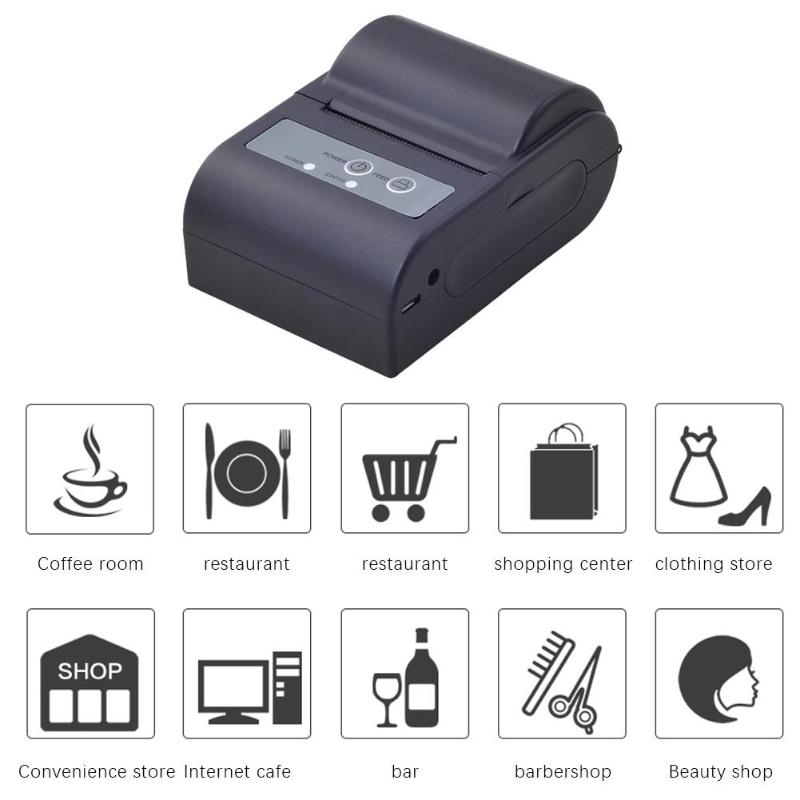 AC 9V-2A Mini Portable Bluetooth Wireless Thermal Receipt Printer For Android Phone US PlugAC 9V-2A Mini Portable Bluetooth Wireless Thermal Receipt Printer For Android Phone US Plug
