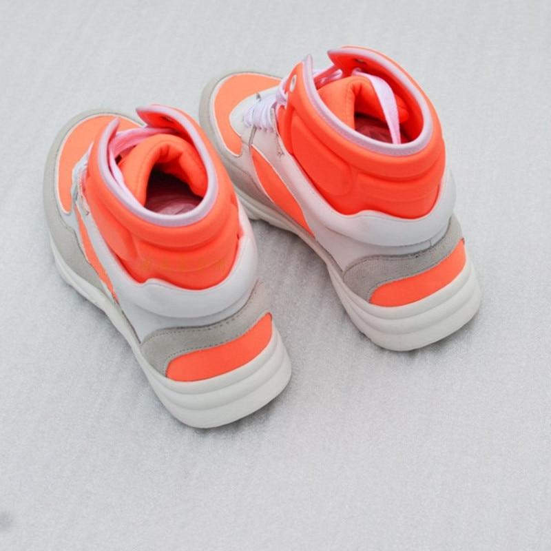 Troupeau Couture Étroite Sneakers À Décontractées De Chaussures Lacets Orange Martin Bout Rond Femmes Pic Bottes as Couleur Pic Plat Correspondant Courtes Bande Femme As qX0xwt