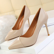 Summer Hot Fashion New Black Female Simple Wild High Heels Women Pointed Toe Shoes Office Dress Pumps Shoes 34-39 DS-A0120 fashion sweet women 10cm high heels pumps female sexy pointed toe black red stiletto high heels lady pink green shoes ds a0295