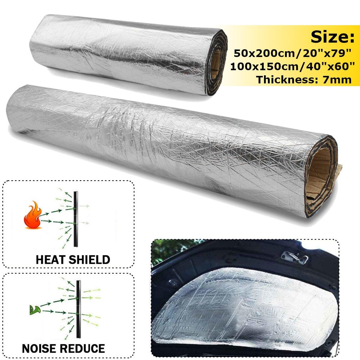 7 мм 500*2000/1000*1500 мм Автомобильный капот, двигатель, брандмауэр, тепловой коврик, дэдэнер, звукоизоляция, дэдэнер, алюминиевая фольга, наклейка