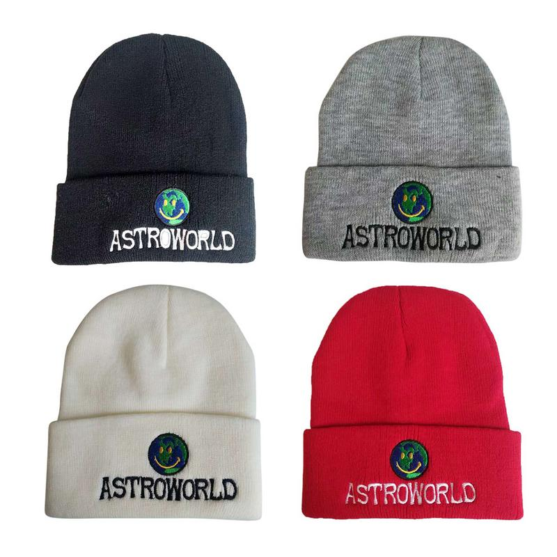 For ASTROWORLD Hat Knit Cap Unisex Wool Knitted Caps Winter Warm   Beanie   Hats Women Fashion Ladies Female   Skullies     Beanies   Hat