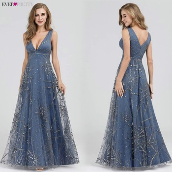 Sexy Prom Dresses Ever Pretty Deep V-Neck Sleeveless A-Line Cheap Women Formal Party Dresses Estidos De Fiesta De Noche 2020 1