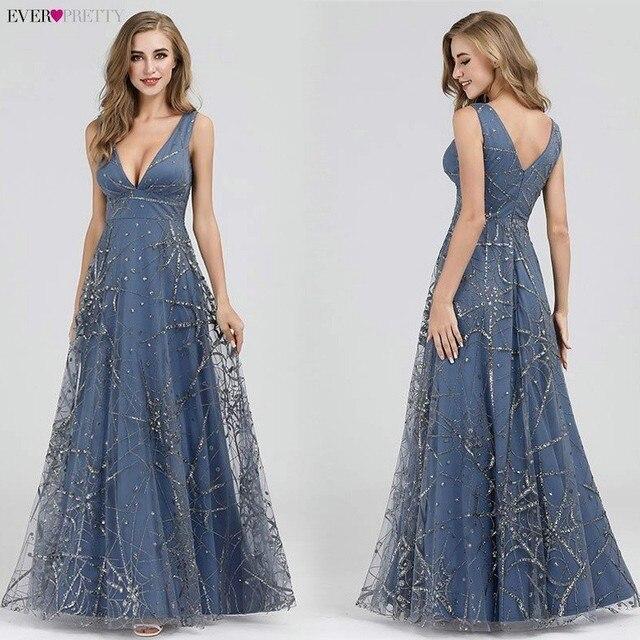 Sexy Prom Dresses Ever Pretty Deep V-Neck Sleeveless A-Line Cheap Women Formal Party Dresses Estidos De Fiesta De Noche 2020 1