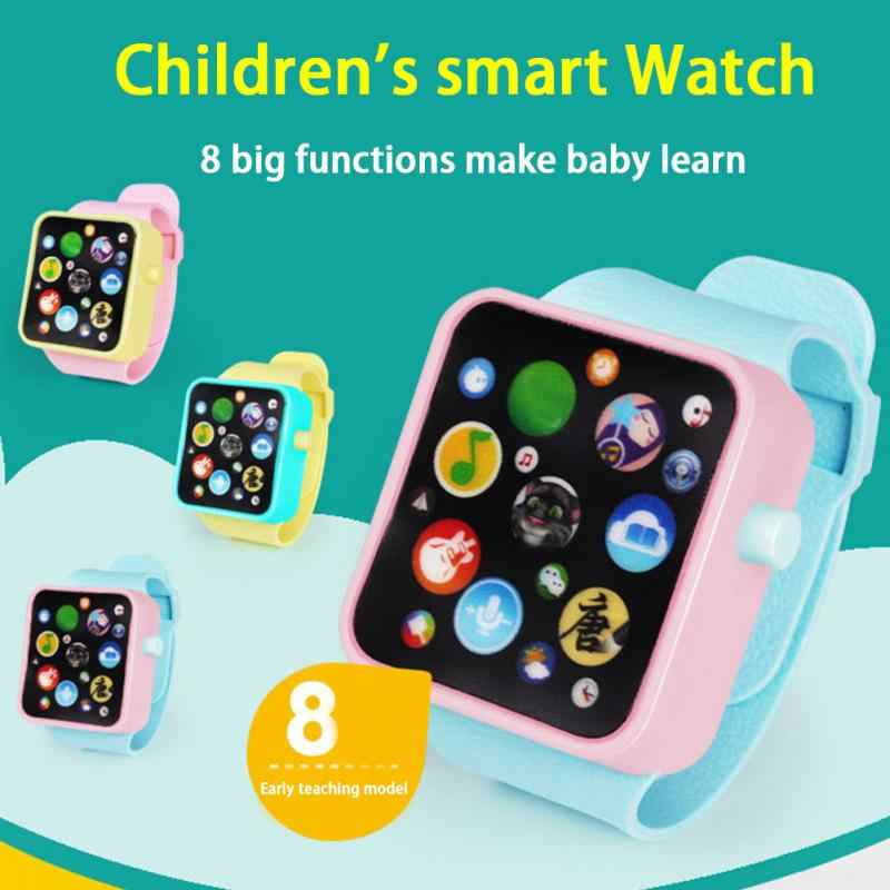 Kids Toys Watch Children Smart Clock 3d Touch Screen Wristwatches Early Educational Toy Adjustable Smart Watch Easy Operation Toys & Hobbies Learning & Education