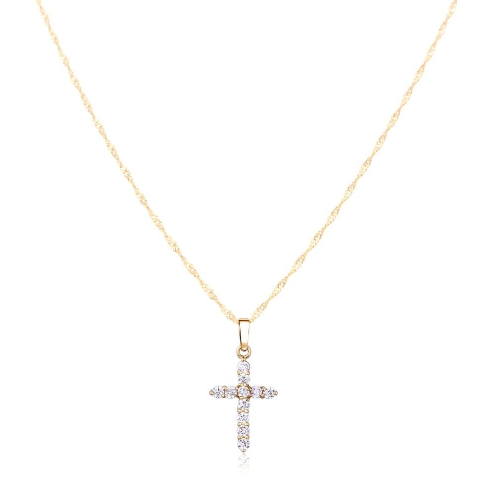 femme collier croix