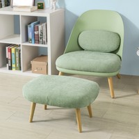 SoBuy FST63, Relaxing Lounge Chair Armchair Sofa with Matching Footstool, TV Reading Relaxing Chair