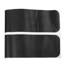 VODOOL 4pcs Carbon Fiber Car Door Sill Sticker None Slip Protection Film Anti Abrasion Stickers Doors