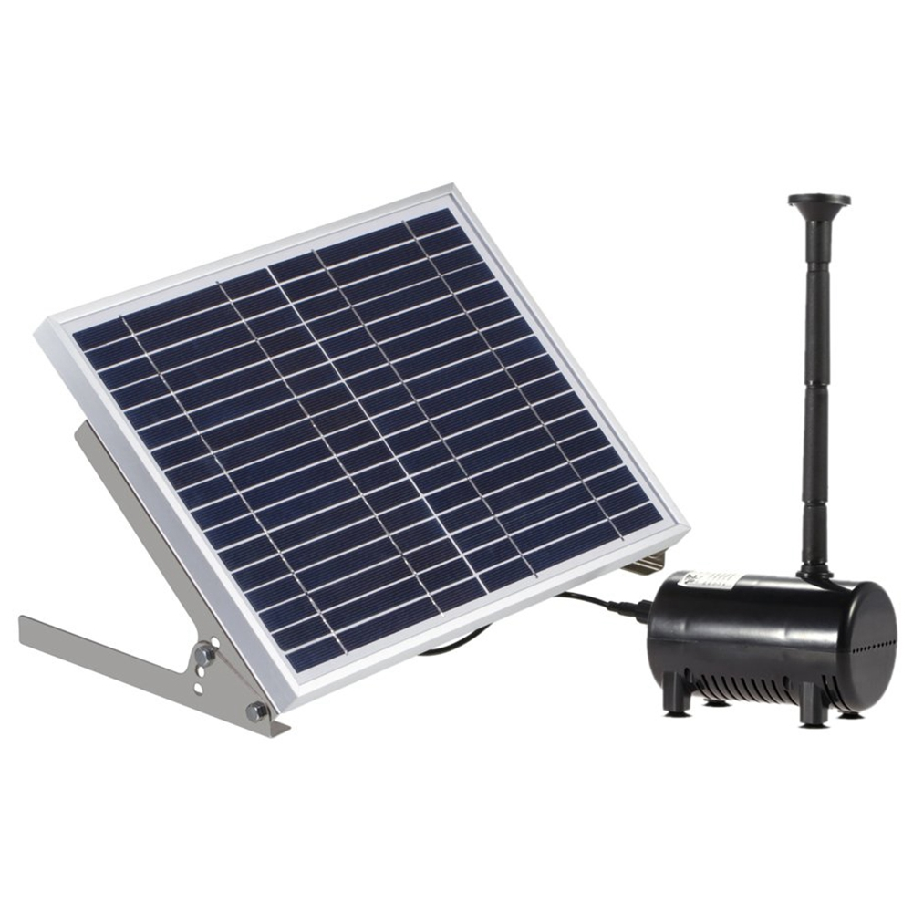 Promotion! 17V 10W Solar Pond Pump Brushless Fountain Water Pump With 6 Different Wells Black + Silver