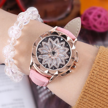 2019 New Fashion Best Selling Women Rotating Dail Watch Casual Luxury Geometric Surface Quartz Watches