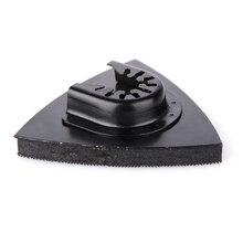 1pc 82mm Multitool Reciprocating Saw Blade Flush Triangular Sanding Abrasive Pad Oscillating for Home Power Tool Fein Multimaste цена 2017