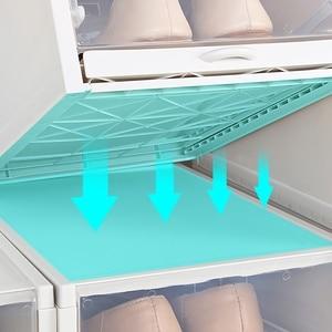 Image 3 - 3Pcs Eco Friendly Shoe Storage Box Case Transparent Plastic Rectangle Pp Organizer Thickened Drawer