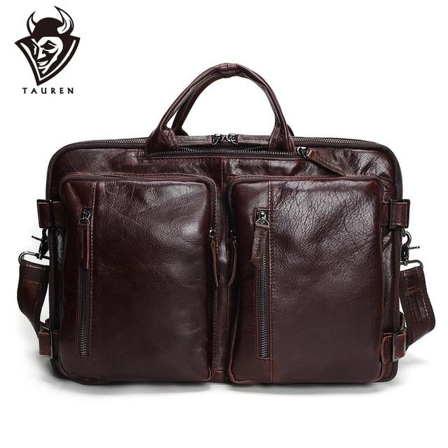 Tauren Genuine Leather Bag Men Messenger Bags Handbag Briescase Business Men Shoulder Bag High Quality 2019 Crossbody Bag Men