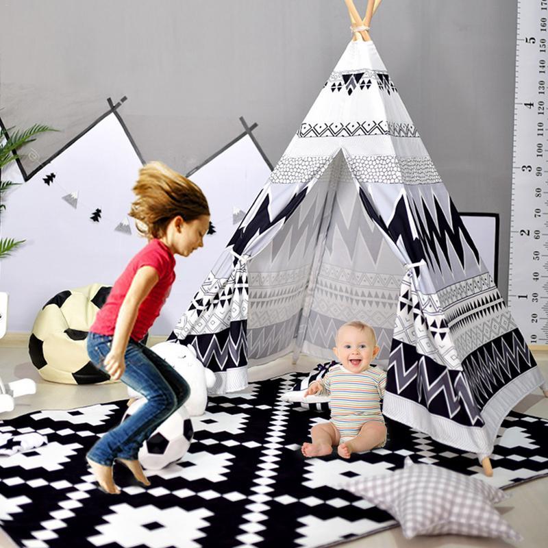 Tente pour enfants jouer maison jouets d'intérieur pour enfants bébé intérieur bébé escalade tente inde tente jouet cadeau