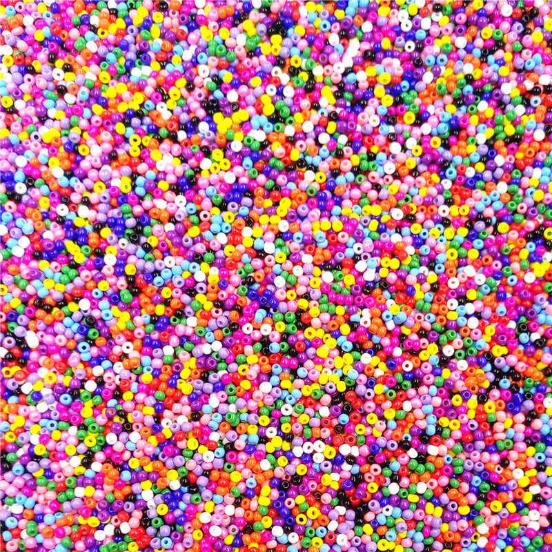 Dijual Baru Perhiasan Aksesoris 1000 Pcs Berkualitas Tinggi untuk DIY Gelang Kalung Kaca Manik-manik Longgar Beads Colorful