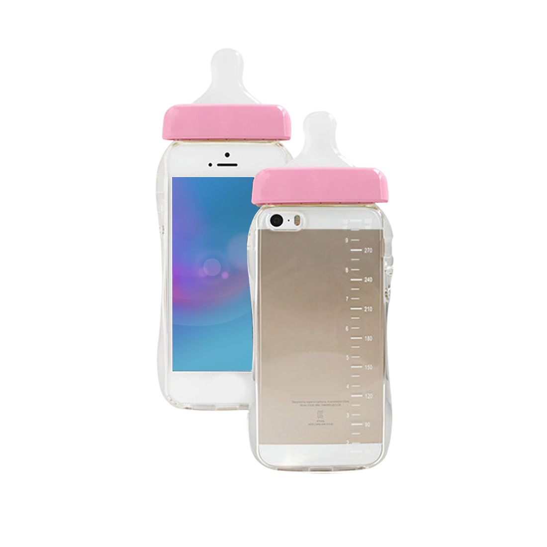 Lovely Soft Edge Phone Case For IPhone 7 Plus Protective Baby Pacifiers Bottle Shape Phone Case For IPhone 5 5s 6 6s Plus