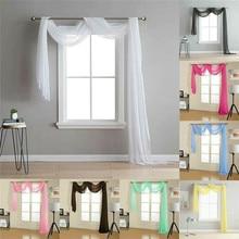 Простые ретро шторы s вуаль тюль двери окна шторы шарф подзор домашний текстиль