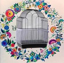 Bird Cage Seed Catcher Stretchy Seeds Guard Parrot Mesh Net Cover