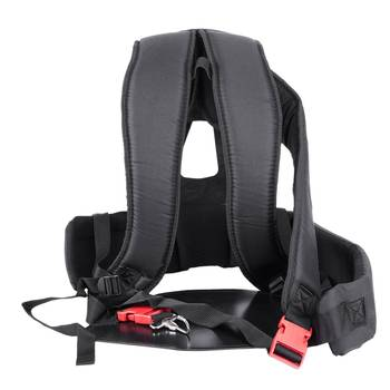 Promotion! Black Grass Cutter Accessories Double Shoulder Strap Harness For Brush With Confortable Padsleg Prote