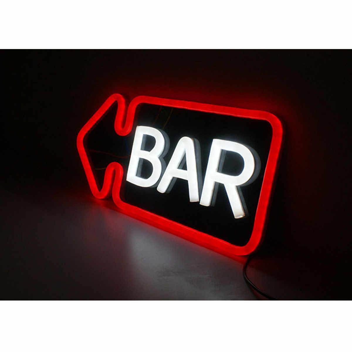BAR Işareti LED Neon Işık PVC Bar Kulübü Duvar Işık Lambası dekorasyon ışıklandırma Neon Ampuller Kartı El Yapımı Görsel Yapıt