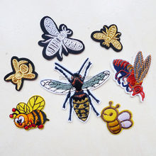 1 Pcs 3D King Bee High Quality Iron On Embroidery Patches Cute Hotfix Applique Motifs Sewing Garment Stickers for clothing jeans(China)