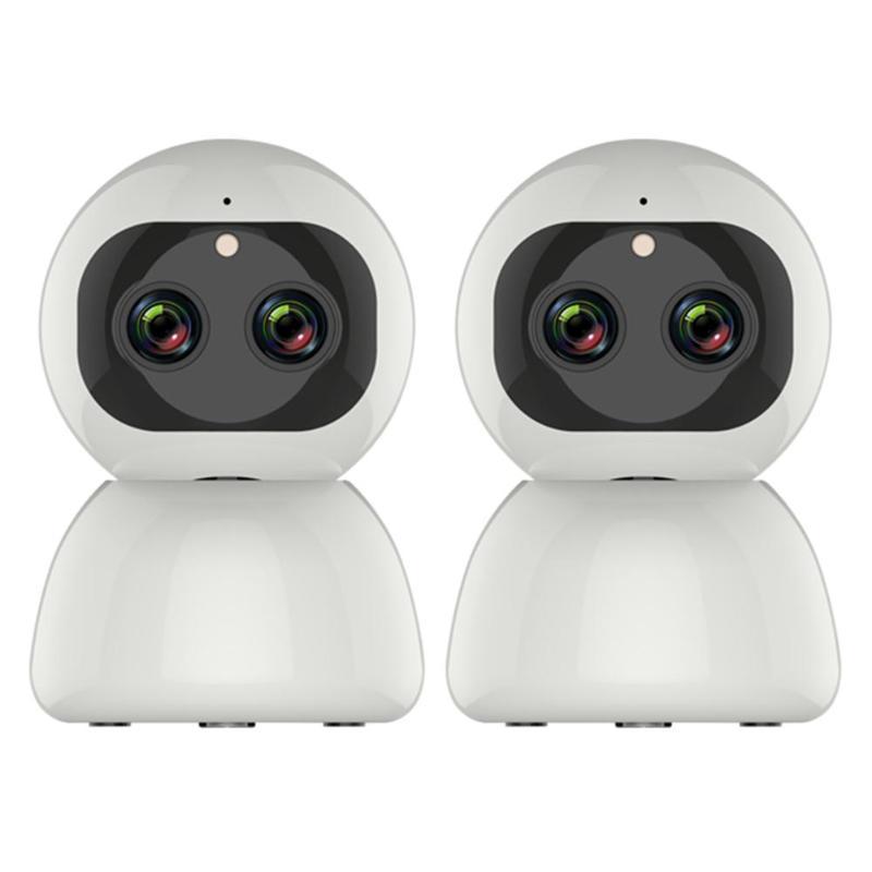 Sans fil 1080 P Vision nocturne Webcam WiFi IP double objectif Zoom détection de mouvement caméra intelligente CCTV sécurité à domicile caméscope PTZ