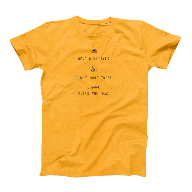 Help More Bees Printed Women's T-Shirts