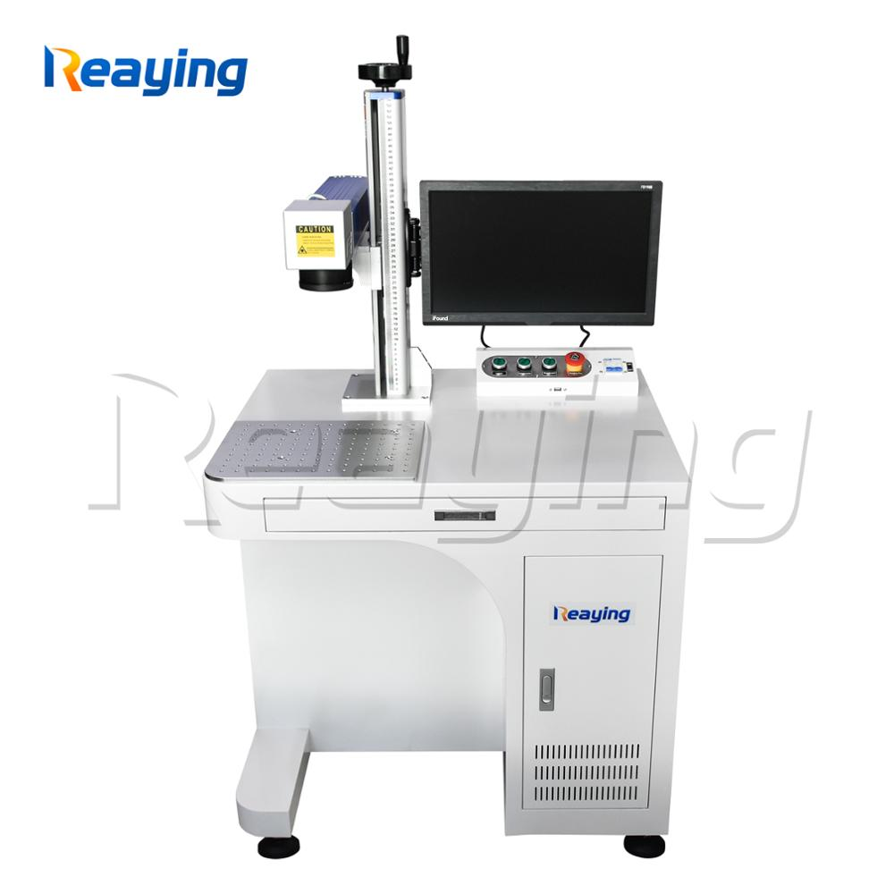 50 watt CNC fiber laser metal engraving machine animal ear tag laser marking machine with CE FDA certification
