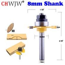 """1pc 8mm Shank Biscuit #20 dłutowanie 5/32 """"x1/2"""" wspólne zgromadzenie frez cięcie drewna narzędzie router do obróbki drewna bity chwjw 14182_8"""