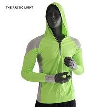 цена THE ARCTIC LIGHT Fishing Clothing Men Breathable shirt UPF 50+ UV Protection Outdoor Sportswear Summer Fishing Shirt