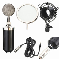 LEORY Professional Sound Dynamic Condenser Mic Studio Audio Recording Condensor Microphone for Broadcasting KTV Singing