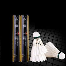 2tubes=24pcs Badminton Shuttlecock A+8 Goose Feather Flying Stability Durable Birdies Ball Battledore Indoor Outdoor Q1327-2ZXC(China)