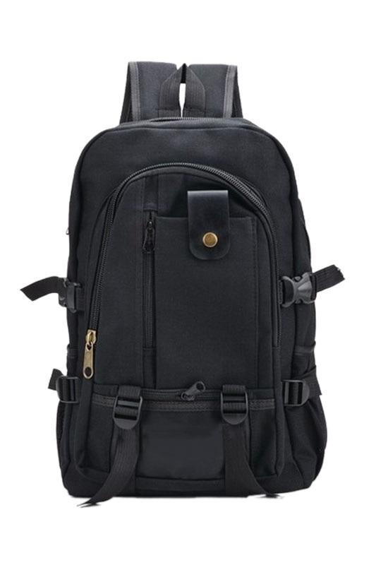Men's Military Vintage Canvas Rucksack Backpack Hiking Camping Bag