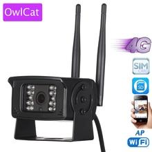 OwlCat 3G 4G cep telefonu SIM kart 1080P HD uzaktan izleme Mini ağ CCTV gözetim kamera WiFi hareket hafıza kartı yuvası