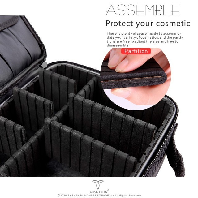 2019 Professional Toiletry Bag Cosmetic Bag Organizer Women Travel Make Up Cases Big Capacity Cosmetics Suitcases For Makeup X32 2