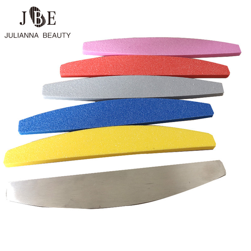 50pcs Thick Washable Nail Buffer Removable Pads With Metal Pad Nail Care Buffing Double Sided Papersand Nail Art Tools 100/180