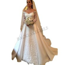 Vestidos De Novia Luxury Lace A Line 2019 Bride Dresses
