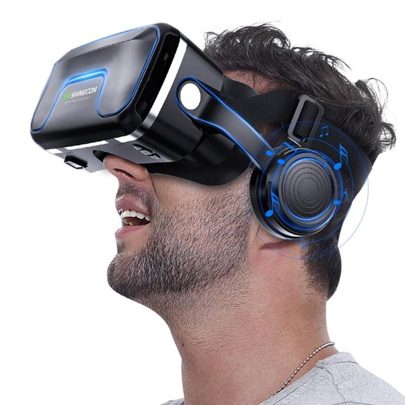 2019 New VR Virtual Reality 3D Glasses Headset Gaming Helmet For 3.5-6.0 Inch Phone Pro Version Reality 3D Glasses