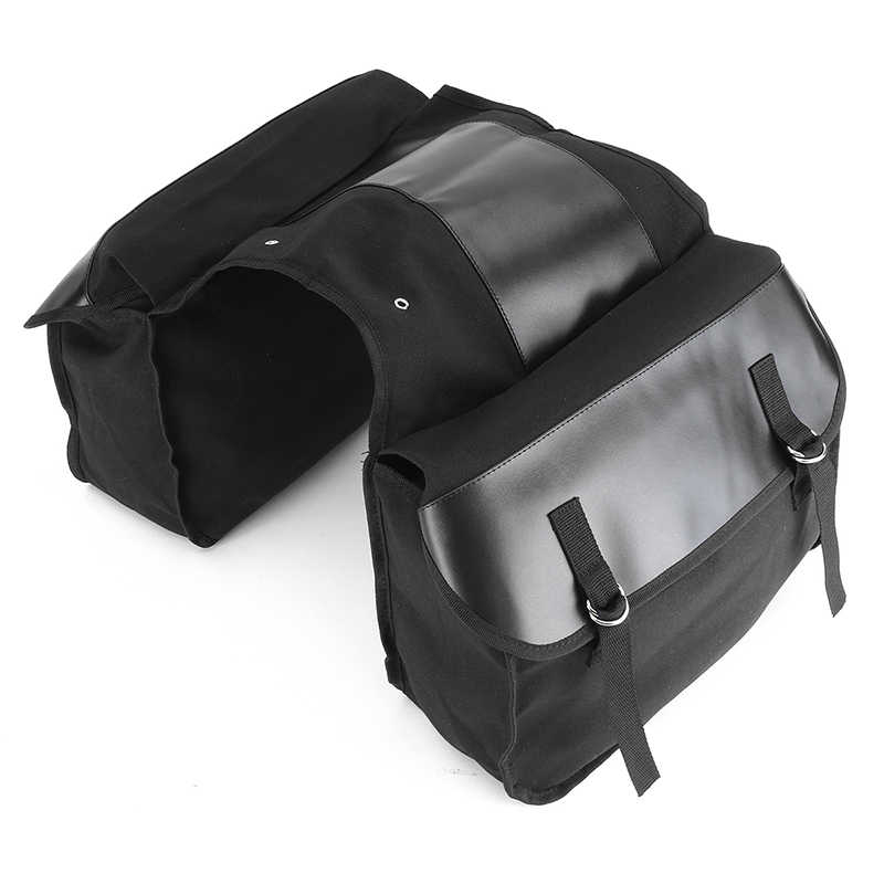 1 Set Motorcycle Side Saddle Bag Pannier Package Luggage Bag Waterproof Black