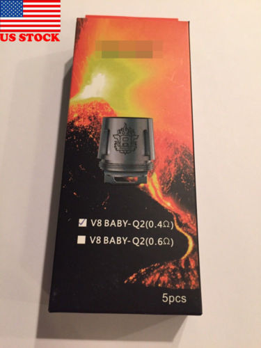 Smoke For V8 BABY Q2-0.4ohm 5PCS Coil Head For TFV8 Baby Beast Tank | U.S STOCK