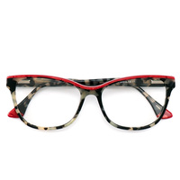 New Cat Eye Glasses Frames Women Optical Eyewear Men Retro Acetate Multicolored Computer Eyeglasses Myopia Full Spectacles