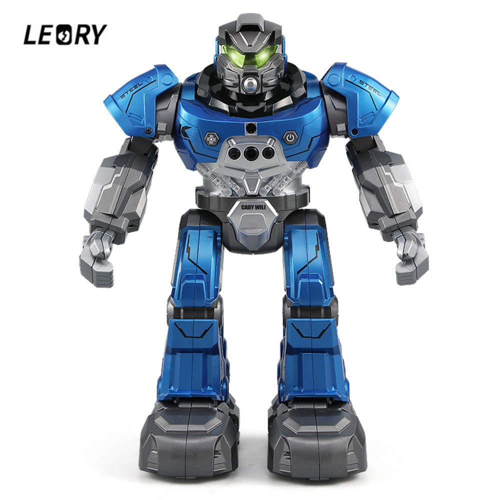 LEORY R5 Intelligent Smart Robot Programmable Education Auto Music Dance RC Robot Watch Follow Gesture Sensor Toys For Kid Gift