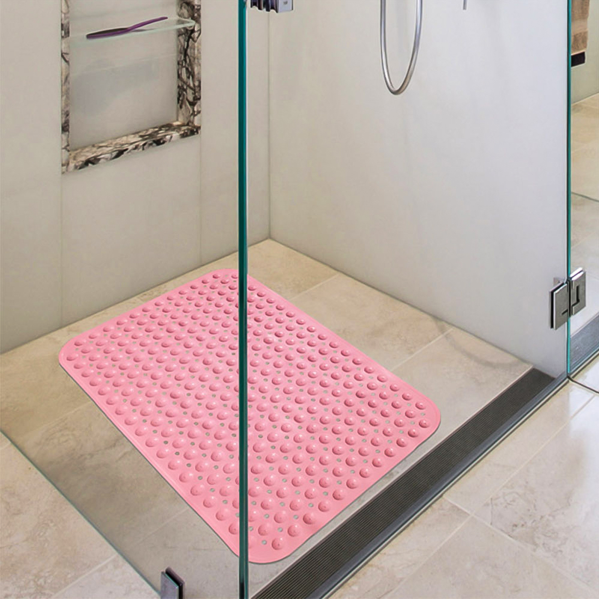 2019 Large Strong Suction Bathroom Mat Anti Slip Bath Shower Mat PVC Massage Particles Foot Pad