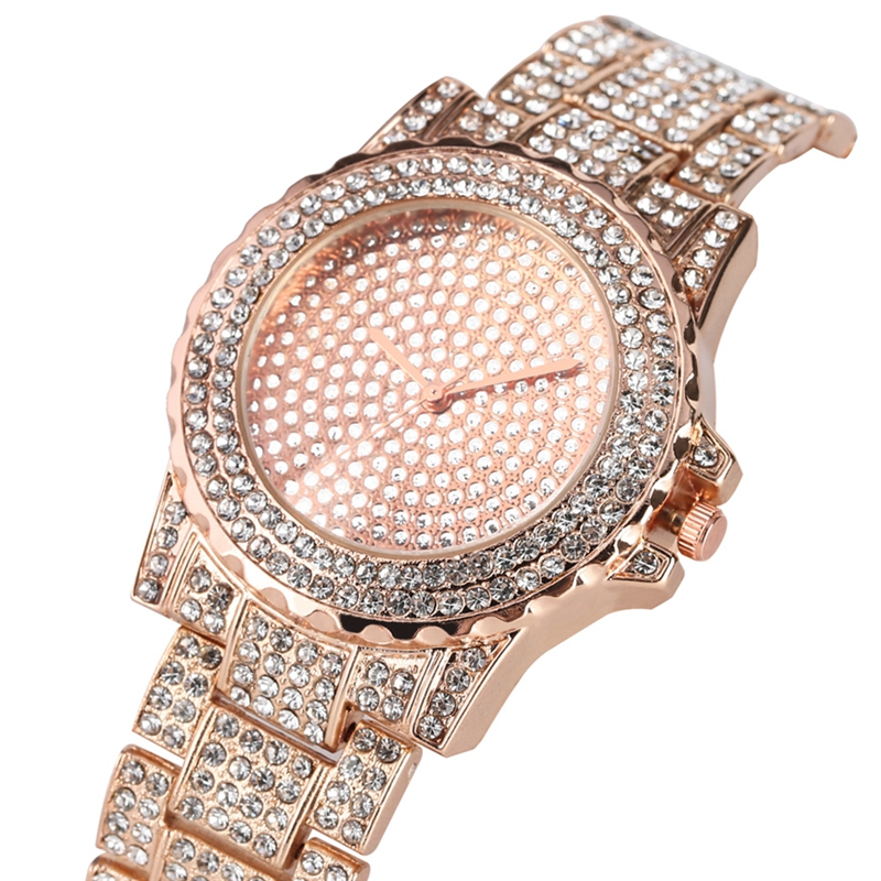 Women Rhinestone Watches Lady Dress Women Watch Bling Diamond Luxury Bracelet Wristwatch Ladies Crystal Strap Pulseiras Clocks