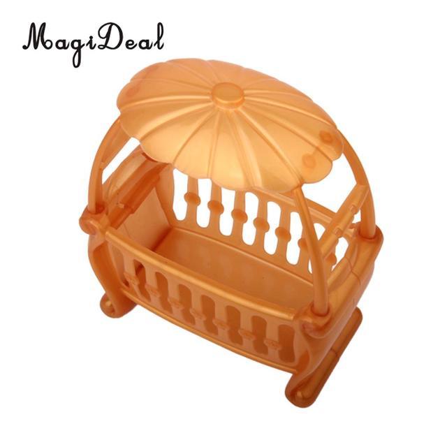 1Pc piękny domek dla lalek miniaturowe meble odpinany baldachim łóżeczko dla dziecka dla lalek dekoracja sypialni dzieci dzieci udawaj zagraj w zabawkę