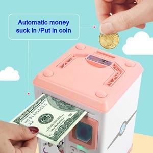 Image 3 - 전자 저금통 ATM 암호 돈 상자 지문 동전 돈 절약 상자 ATM 은행 금고 상자 예금 은행권