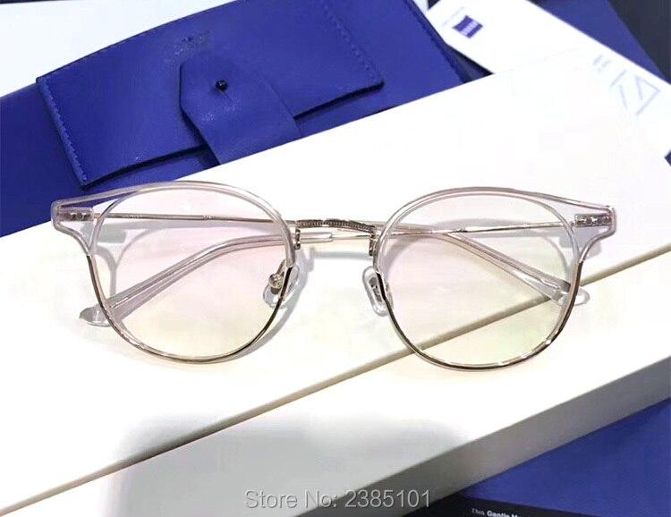 Optique classique doux lunettes cadre Prescription myopie lunettes demi cadre ordinateur femmes hommes lunettes lunettes à verres transparents - 3